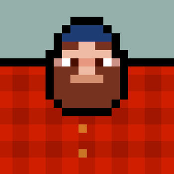 Timberman - Featured as one of the best games of 2014. Over 15 million players could not be wrong.Check out brand new characters including Trout The Voter.Funny iMessage Stickers included! Take your axe or prepare your beard.Timberman is an oldschool arcade style casual game. Become a Timberman, chop wood and avoid the branches. Sounds like an easy task? It\'s easy to play but hard to master. 4 variable environments and 20 Timbermen to unlock. Master your skills for the top records on the leaderboards.This game supports some famous game controllers!
