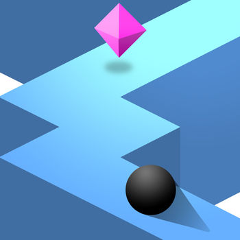 ZigZag - Stay on the wall and do as many zigzags as you can!Just tap the screen to change the direction of the ball. Try not to fall off the edges!How far can you go?
